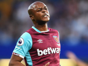 Andre Ayew's position under threat as West Ham chases United's Martial and Rashford