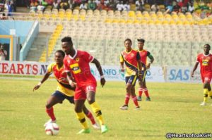Kotoko slapped with a GHC 5,000 fine for violent conduct against Hearts