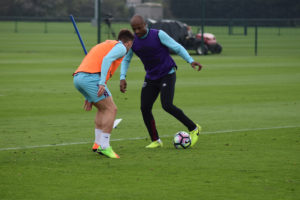 Andre Ayew steps up training with West Ham in the absence of international games
