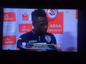 VIDEO: Ghana's Mohammed Anas thanks his wife and girlfriend after been named man of the match