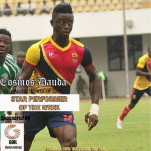 Hearts coach Frank Nuttall defends 'struggling' striker Cosmos Dauda in Tema Youth defeat