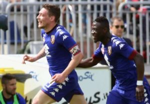 Afriyie Acquah scores and sees red in Torino's 3-2 win over Cagliari
