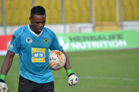 Kotoko goalkeeper Ernest Sowah begins training after recovering from an ankle injury