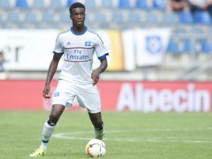 Ghana's Hamburg defender Gideon Jung sustain thigh injury