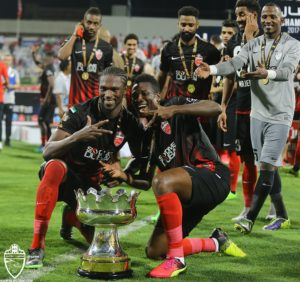 Asamoah Gyan happy with UAE League Cup triumph