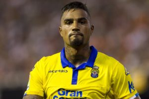 Kevin Prince Boateng was involved in Las Palmas 3-1 defeat to Celta Vigo