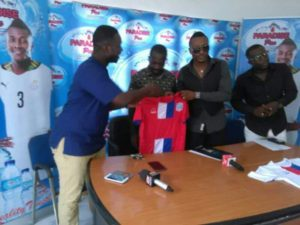 Liberty Professionals sign partnership deal with drinking water manufacturers Paradise Pac Mineral Water