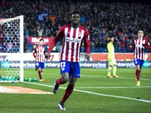 Thomas Partey played in Atletico Madrid 2-0 win over Malaga