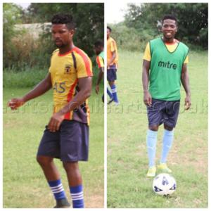Robin Gnagne and Richard Yamoah return to Hearts training ahead of Elmina Sharks clash