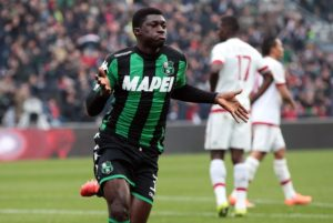 AC Milan wants Sassuolo midfielder Alfred Duncan- Reports