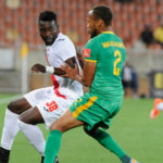 Ghanaian striker Mohammed Anas scores for Free State in their 3-1 win over Bidvest
