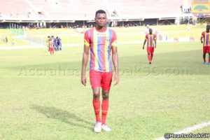 Hearts Leonard Tawiah shifts attention to next game after draw with Liberty
