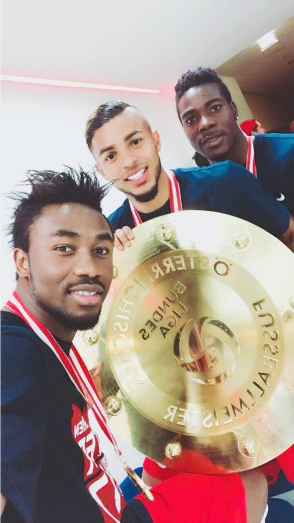 Samuel Tetteh and Ati-Zigi win Austrian league title with Red Bull Salzburg