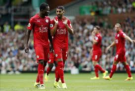 Daniel Amartey plays in Leicester's defeat to Man City
