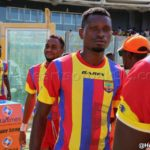 I want to thank coach Frank Nutall for my recent fine form,: Hearts midfielder Leonard Tawiah