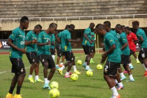 Thirteen players present at Black Stars final training in Accra