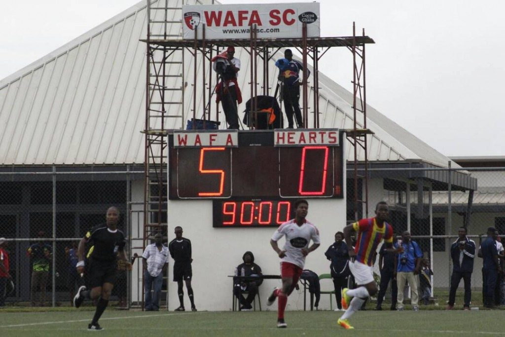 Hearts 5-0 defeat to WAFA is their worse in the last five decades
