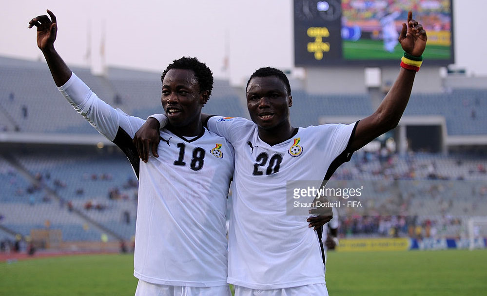 Waiting for Dominic Adiyiah, the other member of Andre Ayew's Class