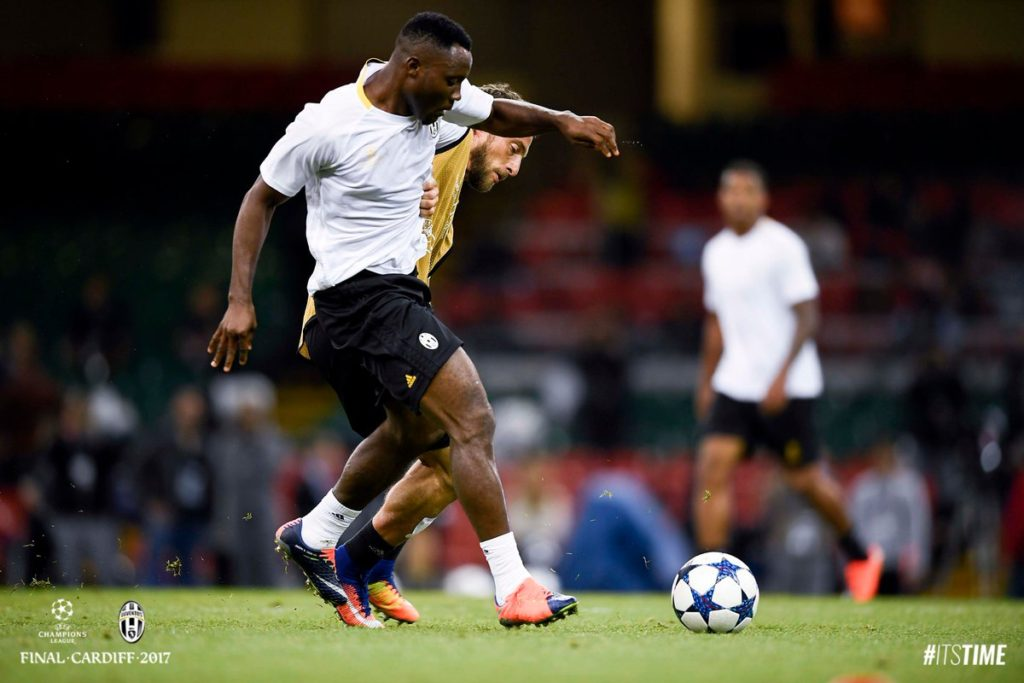 Photos: Kwadwo Asamoah and his Juve colleagues train  at National Stadium of Wales on the eve of the Champs Lge final