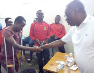 Former Kotoko Chief Dr. KK Sarpong visits injured Kotoko players