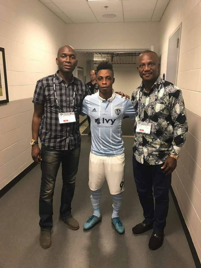 Ghana coach Kwasi Appiah watches Latif Blessing in Sporting KC US Open Cup win over FC Dallas