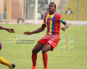 Hearts Captain Thomas Abbey furious over penalty decision in Bechem United defeat