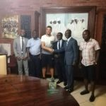 PHOTOS: Elmina Sharks new signing Abner meets with group President and management