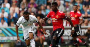 Jordan Ayew enjoys 90 minutes action as Swansea lose to Manchester United