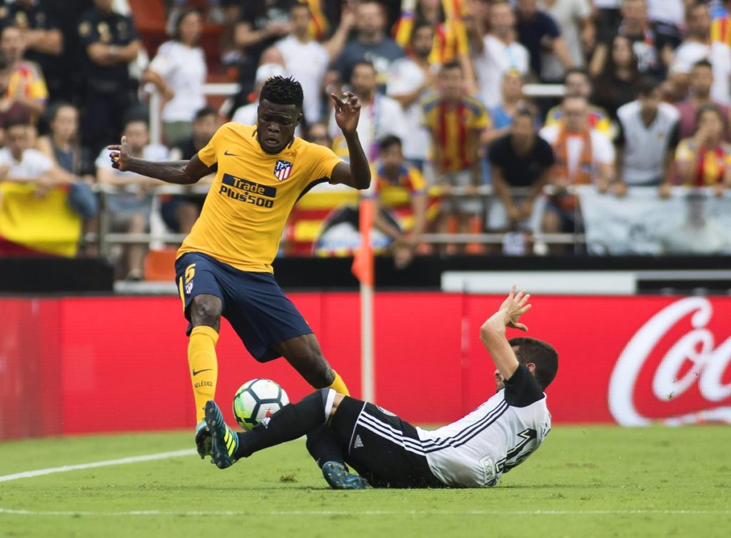 Thomas Partey voted Man of the Match in Atletico Madrid game with Valencia