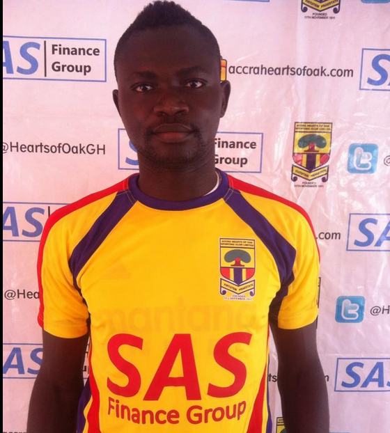 In-form defender Vincent Atinga wins Hearts player of the month