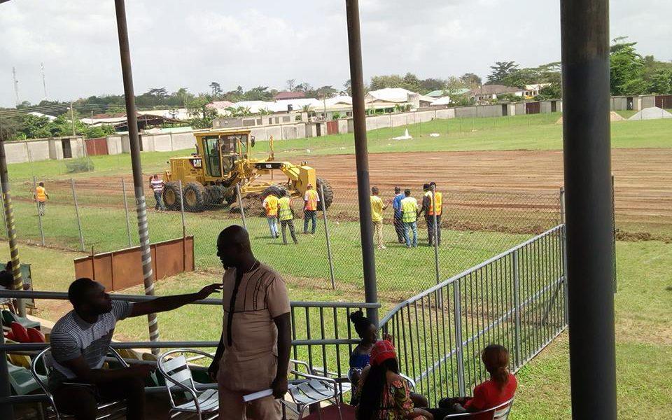 Renovation work begin at Agyemang Badu Park ahead of CAF Champions League