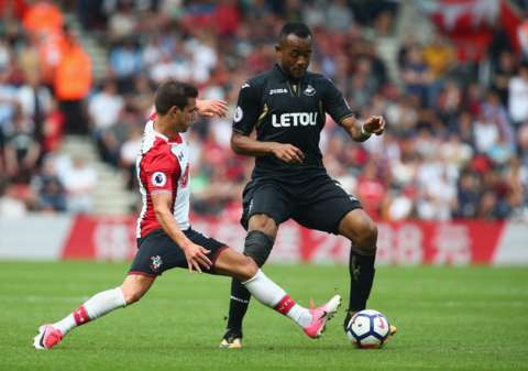 Swansea manager Paul Clement talks about Jordan Ayew's big miss against Arsenal