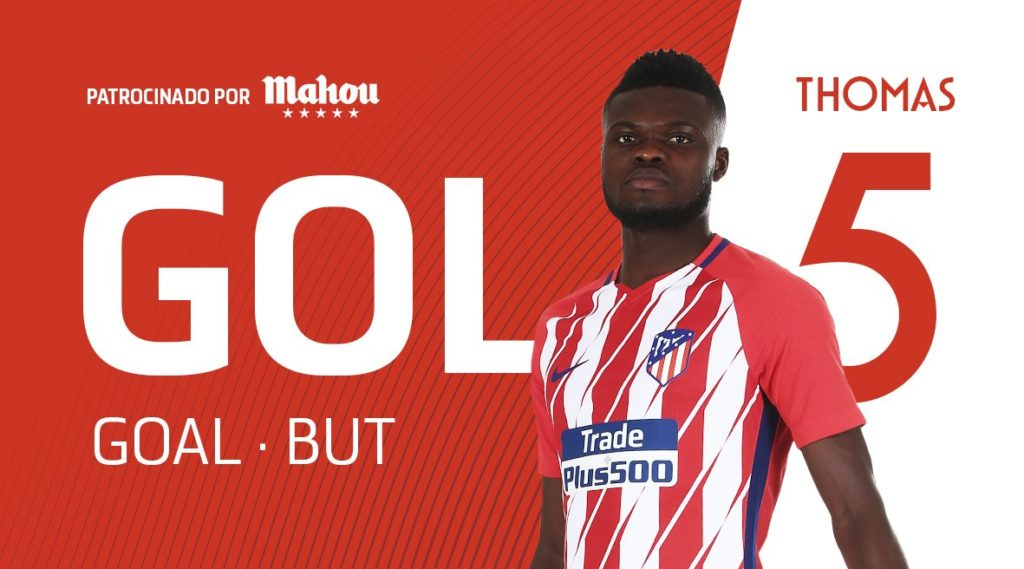 VIDEO: Thomas Partey scores stunning goal in Atletico Madrid's 1-1 draw with Qarabag