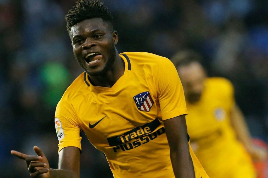 Atletico Madrid hails Thomas Partey for winning Footballer of the year award in Ghana