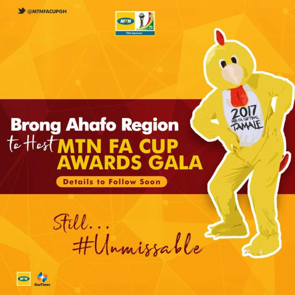 MTN FA Cup awards night to be staged in the Brong Ahafo Region