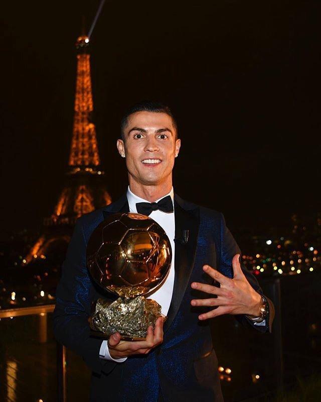 FIFA Best player Cristiano Ronaldo proud to win fifth Ballon d'Or