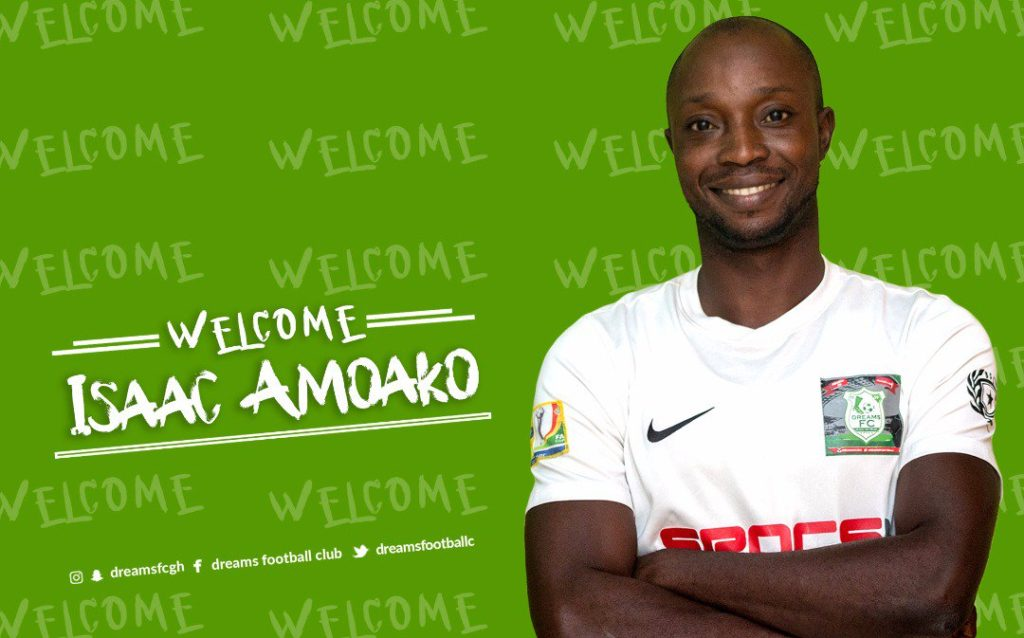PHOTOS: Former Kotoko goalkeeper Isaac Amoako completes move to Dreams FC