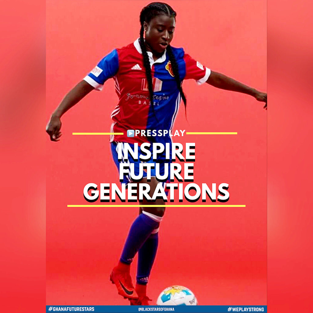 Ghana female footballer Eunice Beckmann selected by UEFA to inspire future generations