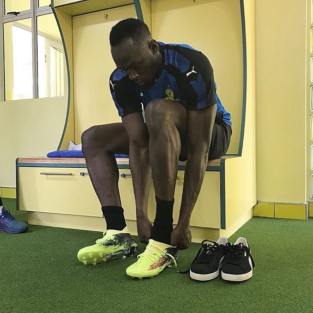 Video: Multiple Olympic Champion Usain Bolt trains with Mamelodi Sundowns