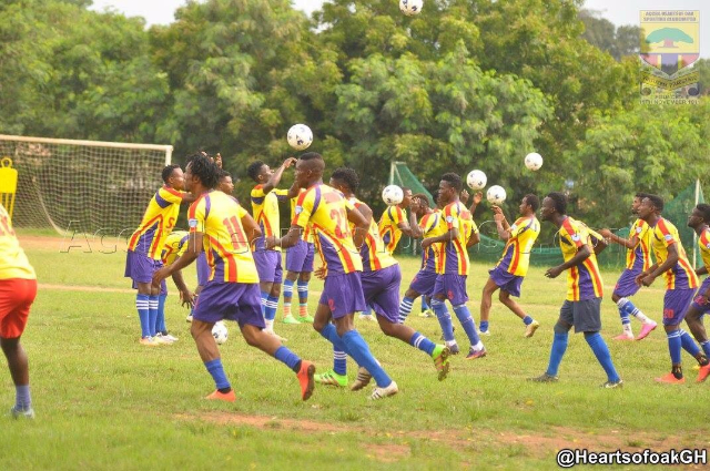 Hearts of Oak resumes training after five-day break