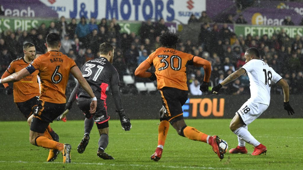 """Jordan Ayew happy with """"Messilike"""" goal in Swansea City win over Wolves in FA Cup"""