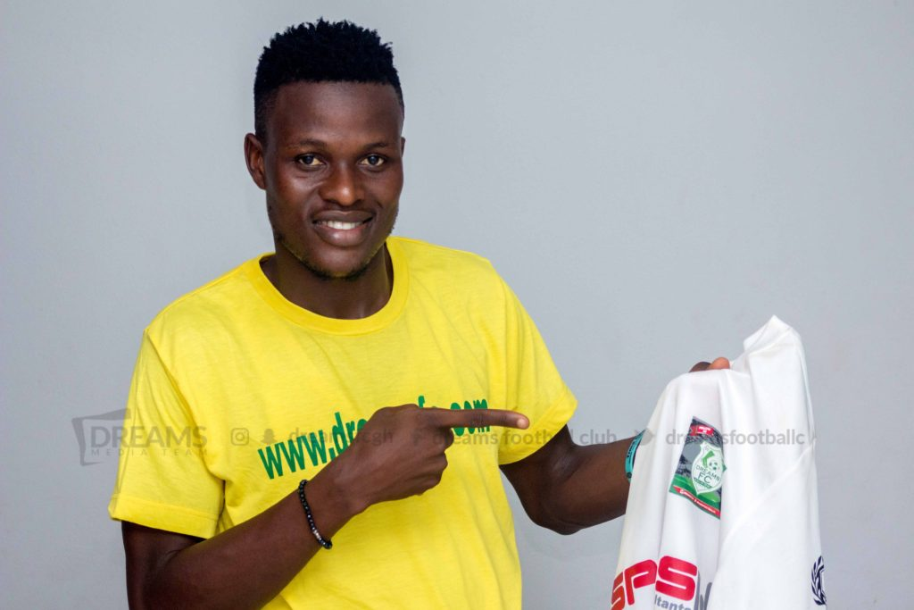 Dreams FC completes the signing of midfielder Patrick Arthur from Lions