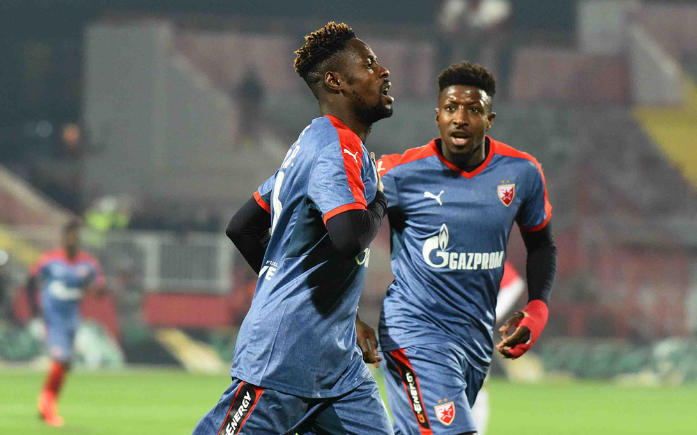 Boakye Yiadom scores as Red Star Belgrade progress in Champions League qualifier