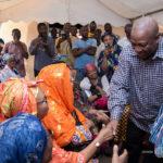 PHOTOS... Former Prez. Mahama visits the late Alhaji Hearts family