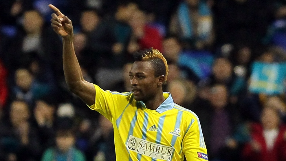 Patrick Twumasi scores Astana crashed out of Europa League