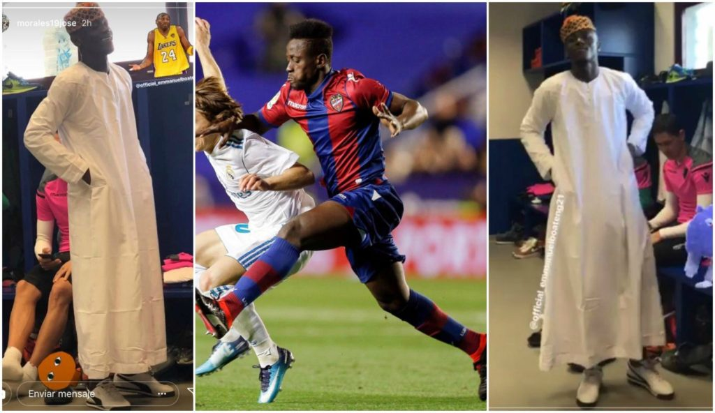 Exclusive: Levante forward Emmanuel Boateng's dressing causes rage at training