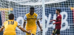 VIDEO: Ghanaian forward Ropapa Mensah scores for Pittsburgh Riverhounds against New York Red Bulls II