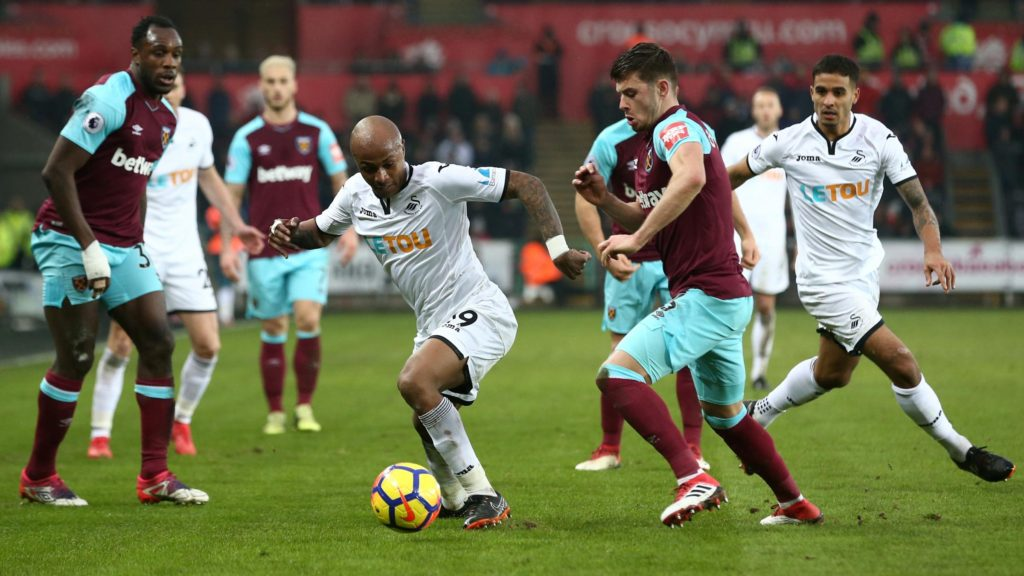 """Andre Ayew promises """"more to come"""" after Swansea demolish former side West Ham"""