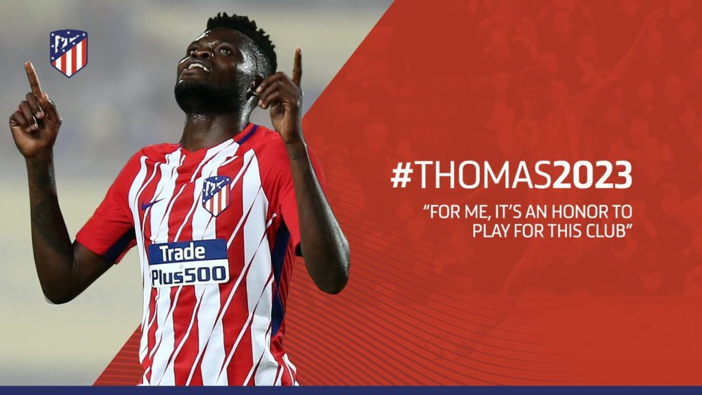 Thomas Partey extends Atletico Madrid contract to June 2023