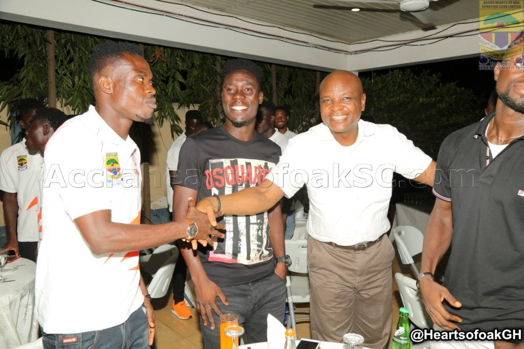 Togbe Afede hosts dinner party for Hearts